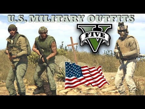 GTA V - U.S. Military Outfits! Vietnam & Marine | New Top Military Custom Doomsday Heist Outfits