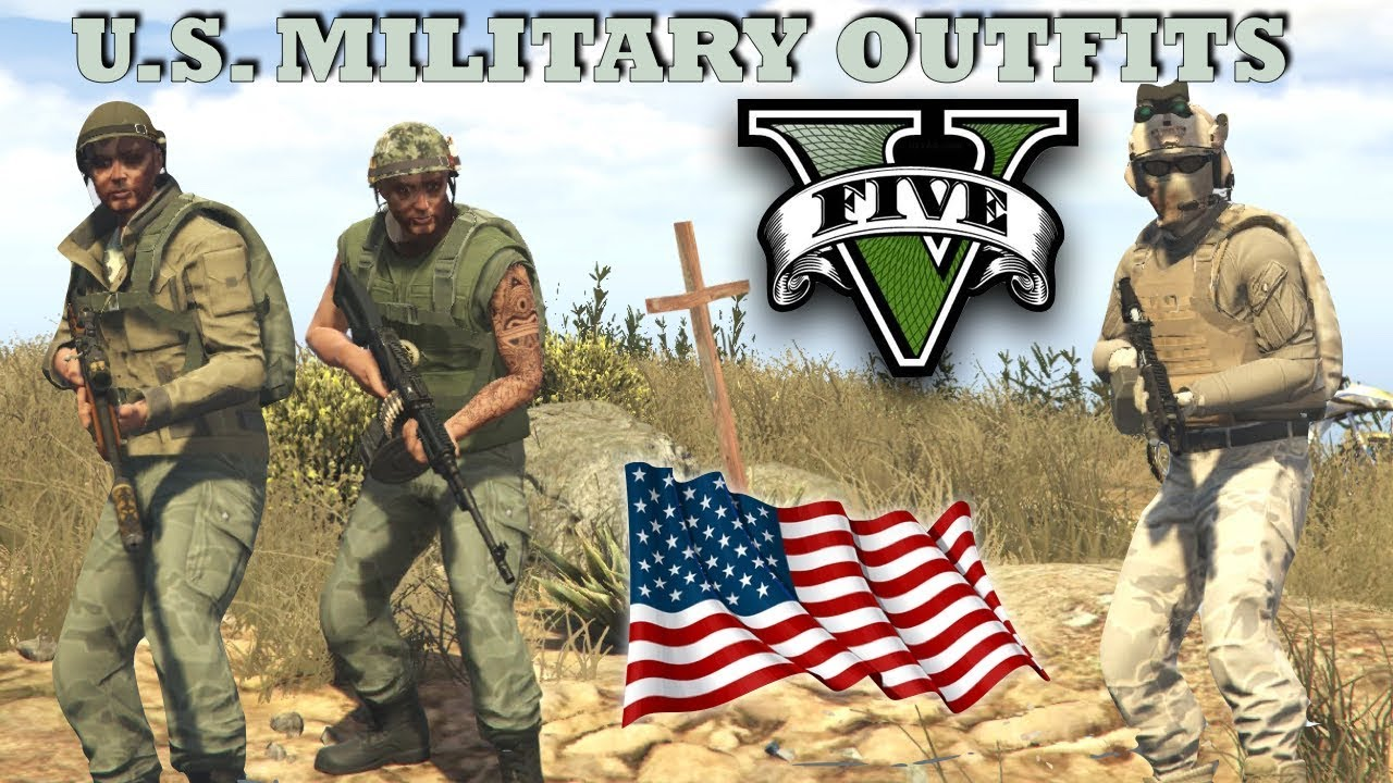 GTA V - U.S. Military Outfits! Vietnam & Marine | New Top Military Custom Doomsday Heist Outfits