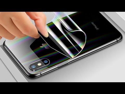 ЧЕХЛЫ НЕ НУЖНЫ!💥Приклеил ГИДРОГЕЛЬ пленку стекло на IPHONE XS с ДВУХ СТОРОН