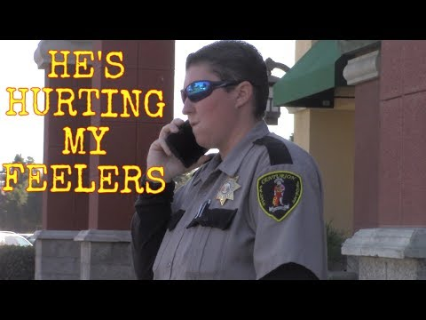 *RIDICULOUS SECURITY GUARD GETS OFFENDED* UNLAWFUL TRESPASS (San Luis Obispo, Ca)