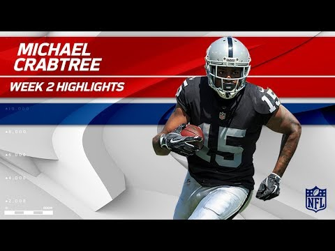 Michael Crabtree is Oakland's MVP with 3 TDs! | Jets vs. Raiders | NFL Wk 2 Player Highlights
