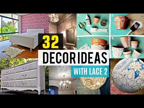 32 Decor ideas with lace #2