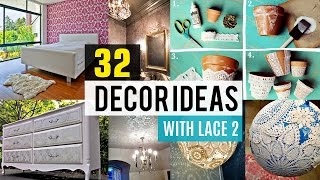 32 diy Decor ideas using lace #2 ????