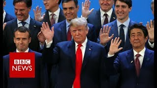 The G20 photo ahead of Friday's plenary session - BBC News