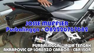 Knalpot CBR 150R Loka K45 slip on Akrapovic Gp Lorenzo Carbon