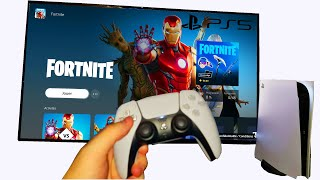JE JOUE A FORTNITE SUR PLAYSTATION 5