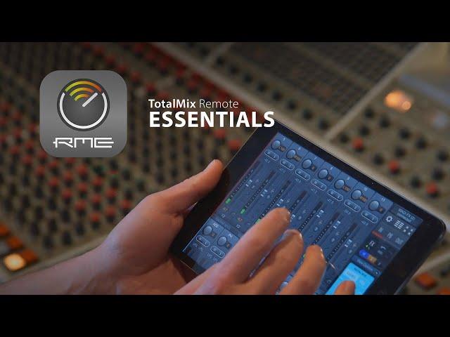RME Essentials: TotalMix Remote