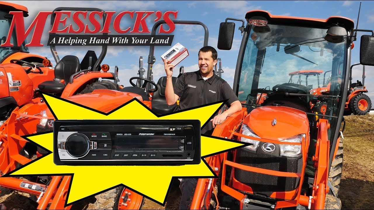 Kubota Tractor Radio Install Free Download Wiring Harness Messicks 89 Bluetooth For Tractors Youtube Farm At