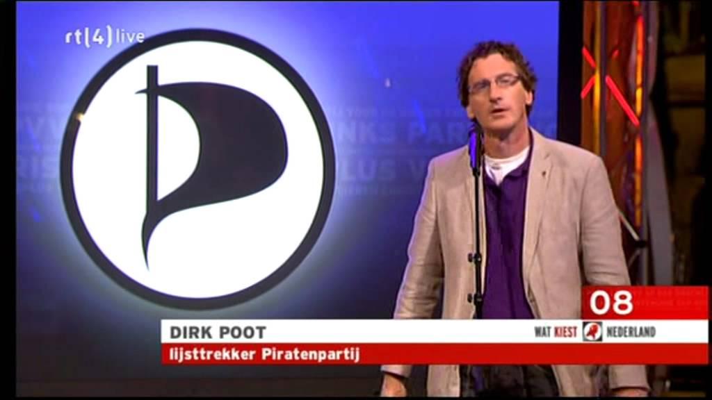 """Dirk Poot Van De Piratenpartij: """"ik Raak Mijn Tekst Kwijt"""