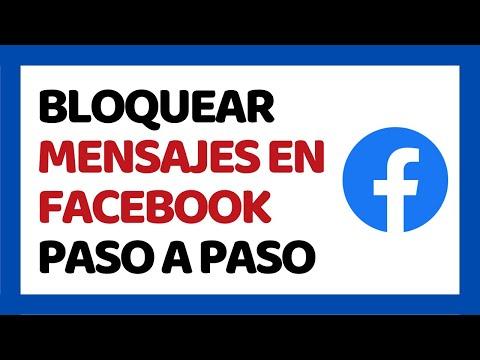 🔴 Cómo Bloquear Mensajes En Facebook 2019