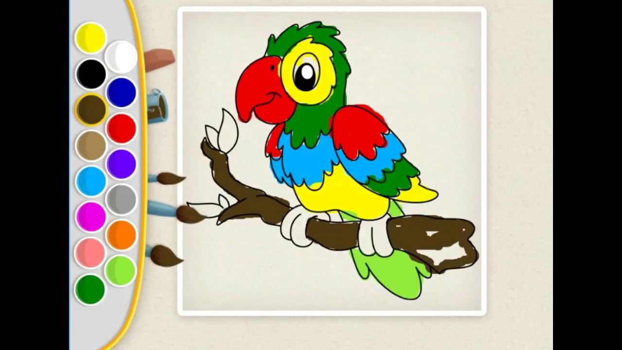 Papagan Boyama Oyunu Ciz Ve Boya Youtube