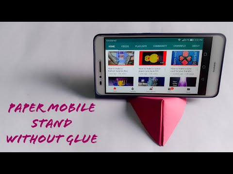 How To Make Paper Mobile Stand Without Glue || DIY Origami Phone Holder || The Best Crafts