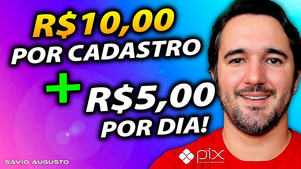 Ganhe R$10,00 Por Se Cadastrar + R$5,00 Por Dia Via Pix - Aplicativo Pagando Rápido