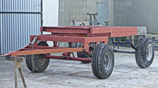 ||5# Remont przyczepy D-47||Przyczepa już jeździ ||Składanie wózka, ramy, obrotnicy w całość||Case96