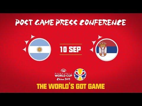 Argentina v Serbia - Press Conference