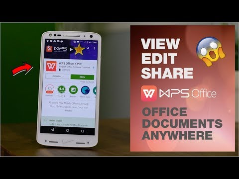 WPS Office Android ! Open Word Excel Ppt And Pdf Files On Mobile