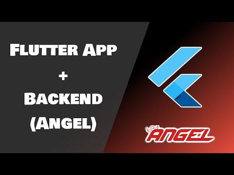 Flutter App + Backend (Angel) = FullStack