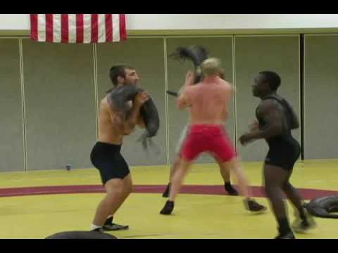 Functional Training With Suples Bulgarian Bag Demo By Olympic Wrestlers You