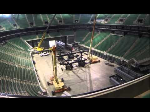 Energy Solutions Arena   Time Lapse of Install