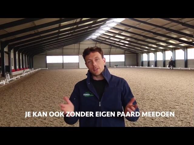 Dressuurles van Laurens van Lieren - viral FB video voor Vente Paardenvoeding - 20 extra lessen
