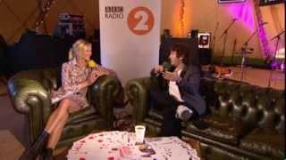 Josh Groban backstage at Radio 2 Live in Hyde Park 2013