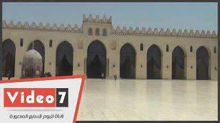 شاهد آخر قطعة من كسوة الكعبة صنعت فى مصر بمسجد الحاكم بأمر الله