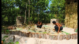 Improve Fish Pond (Build Water Tank And Oxygen Bamboo Water Wheel)