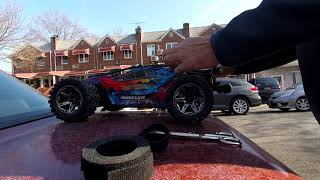 Traxxas Rustelr 4x4 VXL GPS speed run 15 tooth gear