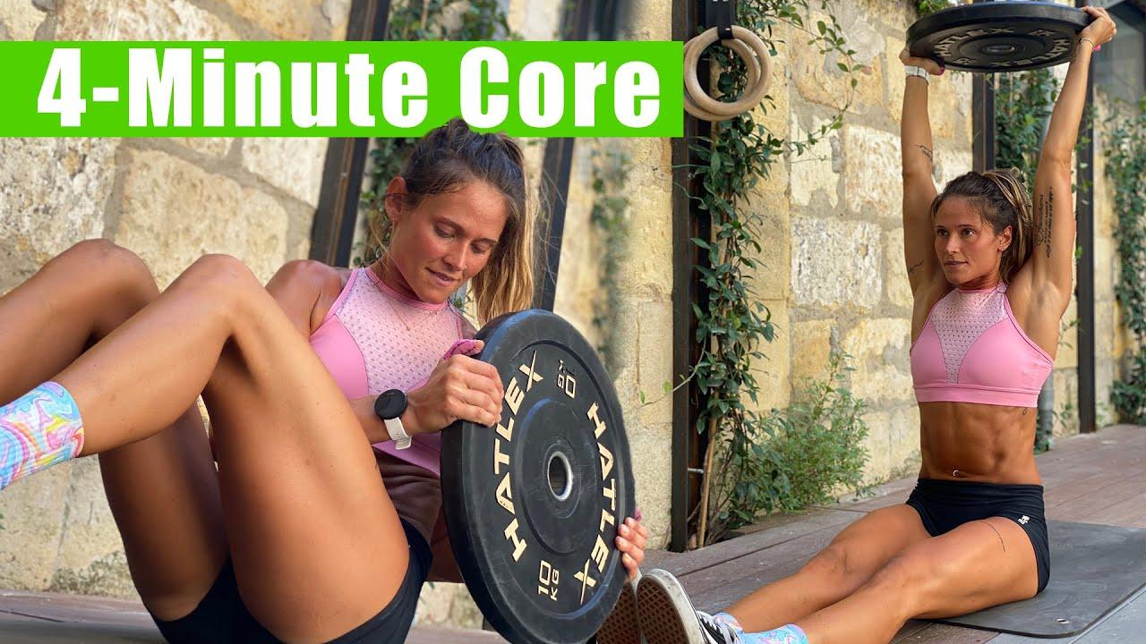 4-Minute Core & Ab Workout | Cynthia Balout