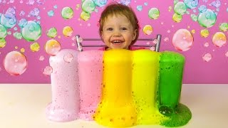 Вулкан из цветной пены.  Крутой эксперимент с пеной. Детские опыты.