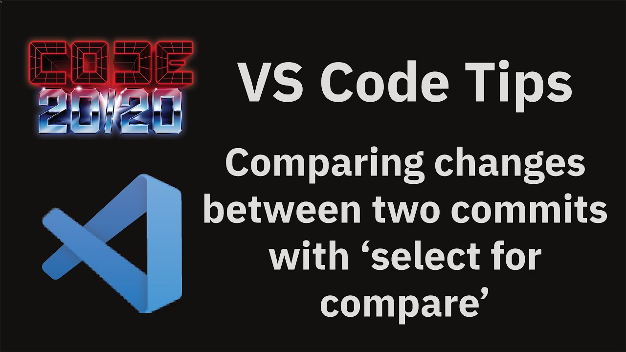 Comparing changes between two commits with 'select for compare'