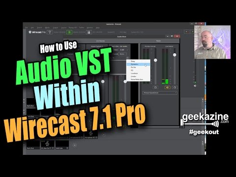 How to Use Audio VST in Wirecast 7 Pro through the Audio Editor
