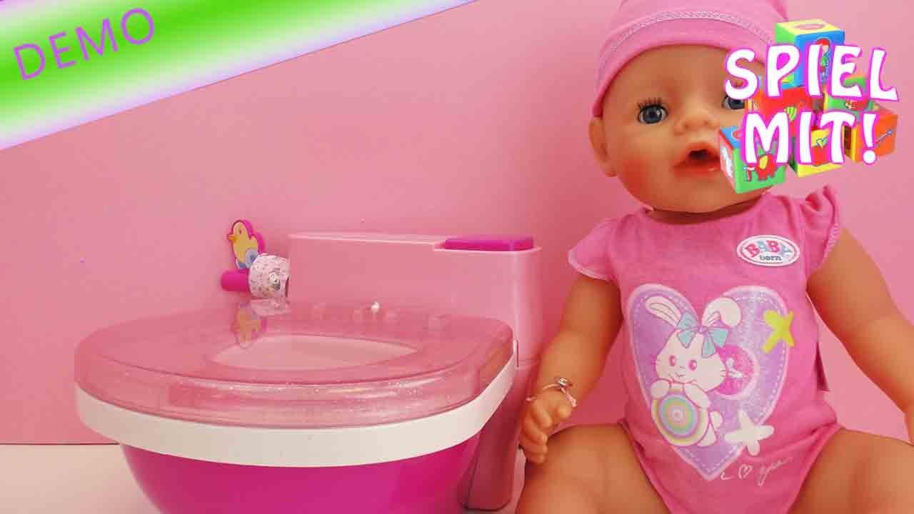 Baby Born Toilette Baby Born Macht Pipi Auf Dem Topfchen Unboxing Und Demo Youtube