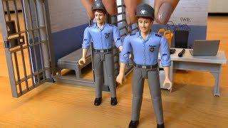 Играем в Полицейский участок, Полицейские квадроциклы и в машины игрушки для мальчиков