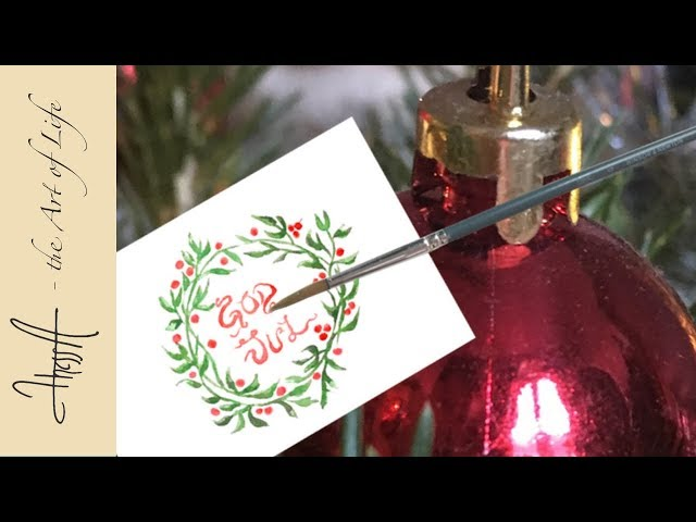 Christmas is coming! Tutorial - Make 4 kinds of greeting cards in water colours