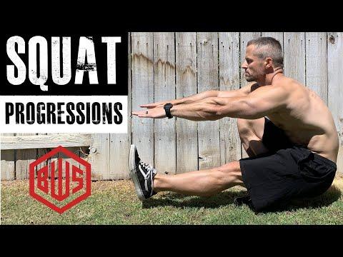 Squat progressions: From Beginner To Full Pistols (single Leg Squats)