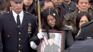 NY police snub mayor at funeral of slain officer Wenjian Liu
