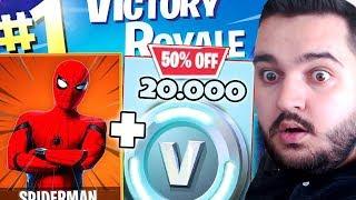 ⛔ IF I WIN THE MATCH I GET 20,000 VBUCKS IN FORTNITE!