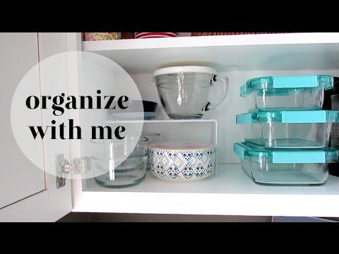 ORGANIZE WITH ME | Glass Food Storage