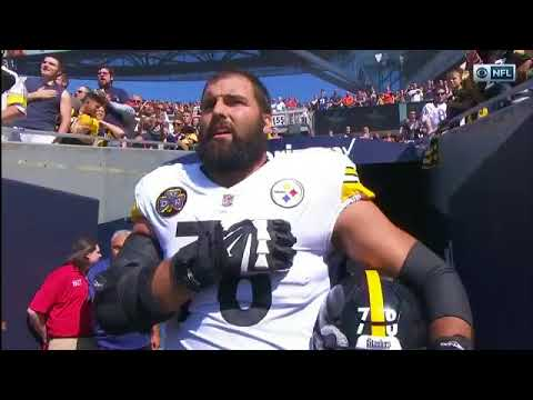 53f04ddfb Former Army Ranger Alejandro Villanueva Is Only Steelers Player To Stand  For National Anthem
