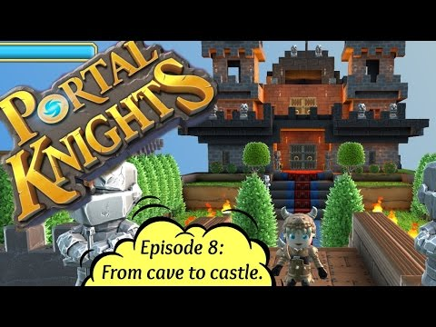 ❄ Holly Huntress playing Portal Knights, Episode 8: From cave to Castle. new update version 0.5.2
