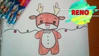 Cómo dibujar al RENO de Navidad (paso a paso) fácil/🎄 How to draw a Cute Rudolph The Reindeer 🎄