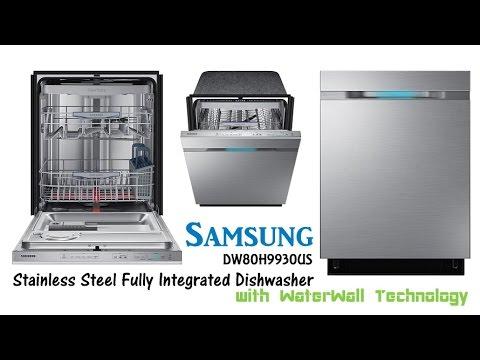 samsung dw80h9930us dishwasher samsung stainless steel dishwasher with waterwall technology