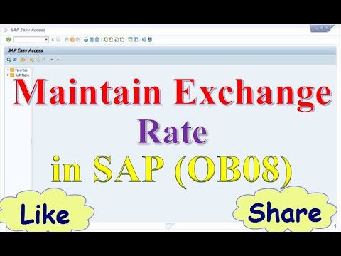 How To Maintain Exchange Rate In Sap