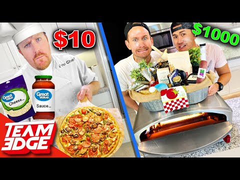 Chef w/ $10 vs Noobz with $1000 Pizza Challenge!!