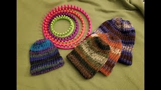 Loom Knitting a Brimmed Hat - Full Tutorial!