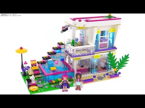Lego Friends Livis Pop Star House Review 41135 Youtube
