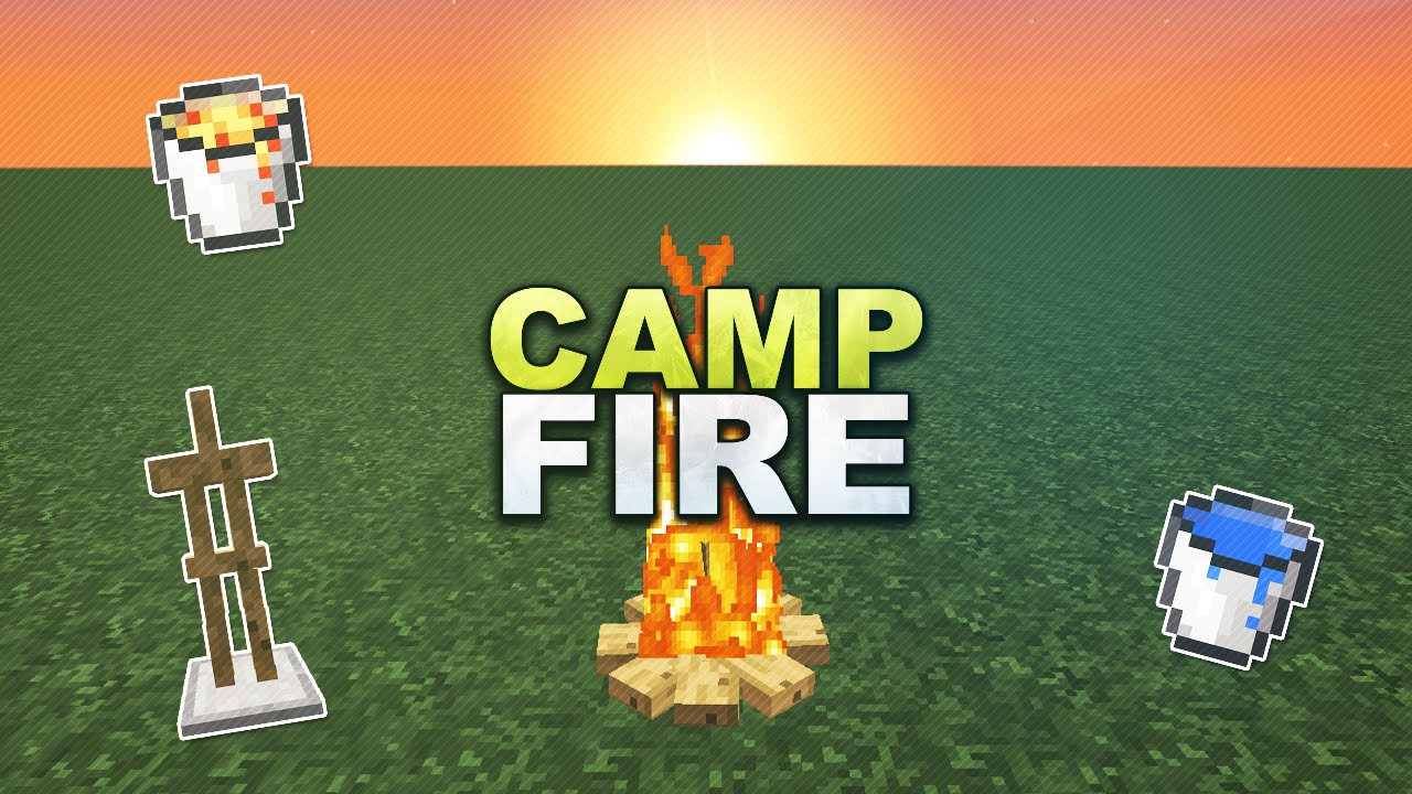 how to build a campfire in minecraft