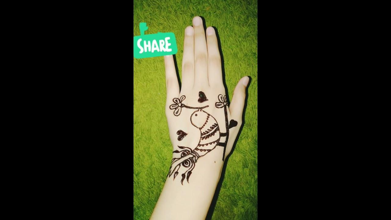 love birds mehndi design