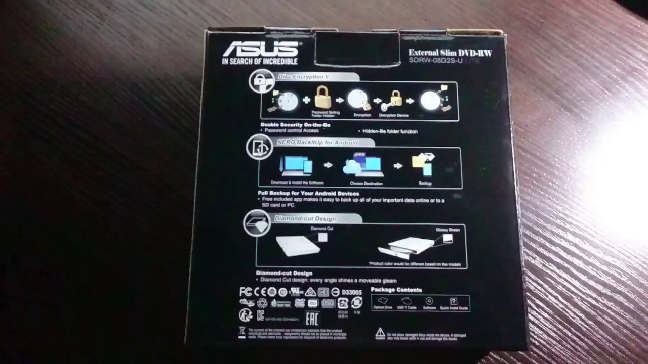ASUS EXTERNAL SLIM DVD-RW SDRW-08D2S-U DRIVER FOR PC